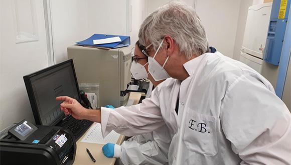 מעבדת הקורונה שהוקמה בקמפוס אוניברסיטת תל אביב